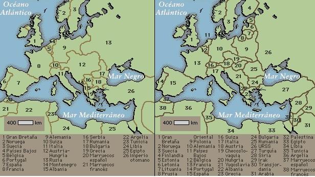Europa antes y después de la I Guerra Mundial
